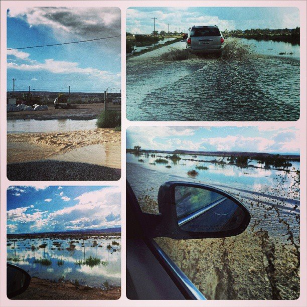 We had to drive through a flood in Norther New Mexico / Arizona after the rains caused a damn to break